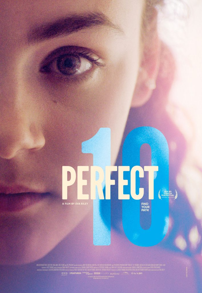 """""""Perfect 10"""" cinema poster. Film available from Curzon Home Cinema August 7 2020"""